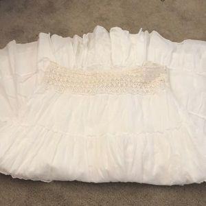 Flowy White Peasant Skirt